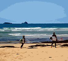 Surf's Up at Constantine Bay by RachelMacht