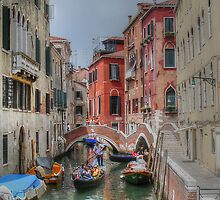 Boats and bridges.... in Venice by TheaDaams