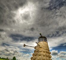 Straw Dalek (3) with boy by Mikhail31