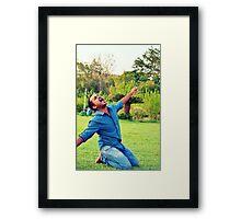 Shouting Framed Print