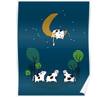 A Cow Jump over the moon Poster