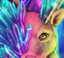 Crystal Deer Sticker