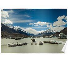 Lake Tasman, New Zealand Poster
