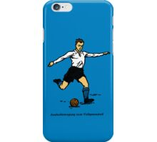 Full Instep Kick color (50s teaching drawing!) iPhone Case/Skin