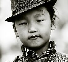 Young girl during Nadaam Festival, Ulaanbaatar, Mongolia by jennyjones