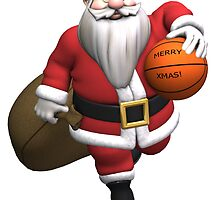 Santa Claus Basketball Player by Mythos57