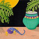 Midnight Gecko by Judy Newcomb