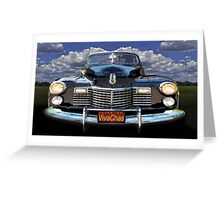 41 Cadillac Blue on Blue Capturing the Mood of an Age Greeting Card