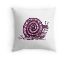 Crazy Snail Pillow Throw Pillow