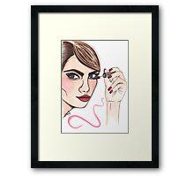 cara delevingne illustration  Framed Print