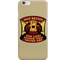 NCR 1st Recon iPhone Case/Skin