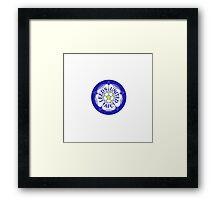 Leeds United Retro Badge Framed Print