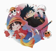 One Piece Luffy and Law by MugiwaranoBiju