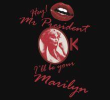 Kylie - Hey Mr President T-shirt by markkm08
