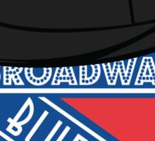 Broadway Blue Shirts Sticker