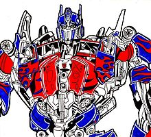 Optimus prime (Transformers movie) by paoloaspee