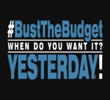 Bust The Budget - T-shirt - blue by 3wisedonks