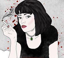 PULP FICTION's Mia Wallace  by raeuberstochter