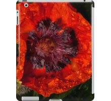 orange poppy covered with raindrops iPad Case/Skin