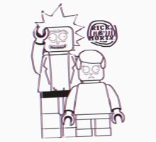 Rick and Morty Lego 3D  by Stove  Aya