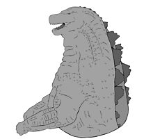 godzilla grey scale 2 by sosidgerolls