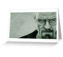 'The Danger' Handpainted Heisenberg Portrait (Green) Greeting Card