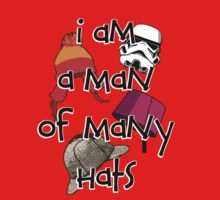 Man of Many Hats Kids Clothes