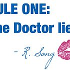 Doctor Who - Rule One by littlebearart