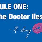Doctor Who - Rule One on dark by littlebearart