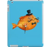 Sir Fish with Mustaches iPad Case/Skin