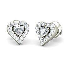 White Gold Studs Earrings  by sudomark3