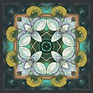 Ginger flower quad by maria paterson