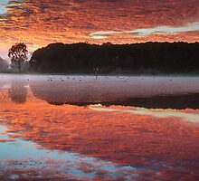 First Light at Lake Lorne by Julie Begg