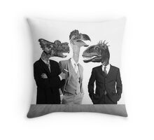 The Saurus Society - No Extinction Theory Conversation Throw Pillow