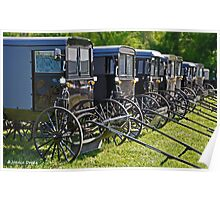 Amish Buggy Parking Poster