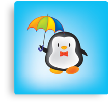 umbrella penguin Canvas Print