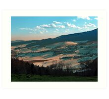 Winter wonderland valley scenery | landscape photography Art Print