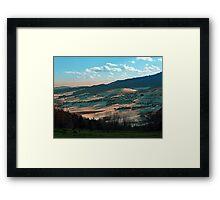 Winter wonderland valley scenery | landscape photography Framed Print