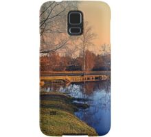 Winter mood on the river IV | waterscape photography Samsung Galaxy Case/Skin