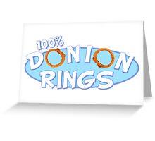 Donion Rings Greeting Card