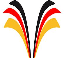 Strip lines flag of Germany by Style-O-Mat