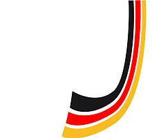 Germany bow lines flag by Style-O-Mat