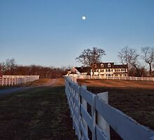 Farm House And The Moon by James Brotherton