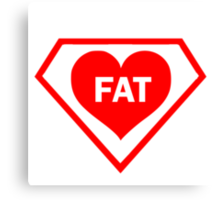 FAT HEART DIAMOND Canvas Print