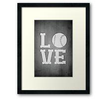 Baseball Love 2 Framed Print