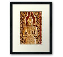 Thai style Buddha carving Framed Print