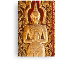 Thai style Buddha carving Canvas Print