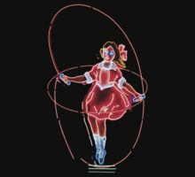 Skipping Girl Neon T-shirt & Stickers by Jane McDougall