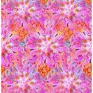Pink Floral Dream Fractal art by Tori Snow