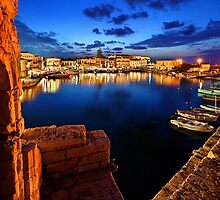 The old Venetian port of Rethymno - Crete by Hercules Milas